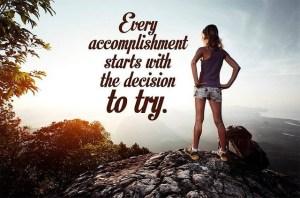Start now……