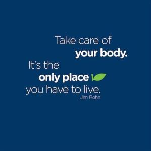 Look after your body…..