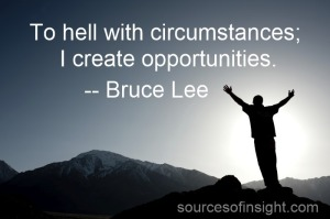 Create opportunities.
